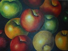 """Manzanas"" óleo, autor : Maria Noemi"