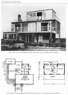 Josef Frank (architect) Josef Frank Architect And Designer at Josef Frank, Classic Architecture, Architecture Design, Fire Island, Good House, Bauhaus, Facade, House Plans, Modern Design
