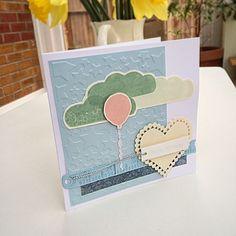 Birthday balloon clouds stars heart card   docrafts.com