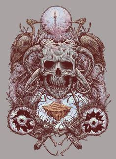 another work for t-shirt design with skull theme and yummy colours :)