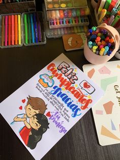 #tarjetas #regalosoriginales #regalosdeamor #regalosdeaniversario Birthday Present Diy, Birthday Gifts For Best Friend, Birthday Cards, Happy Birthday, Diy And Crafts, Crafts For Kids, Love Phrases, Diy Gifts For Boyfriend, Love Messages