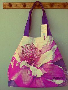 huge tote, floral print