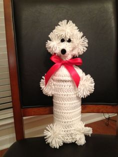 Crocheted Poodle Wine Bottle Covers by AFewOldBags on Etsy, $7.00