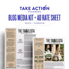 You know what your blog is missing? A professional blog media kit & ad rate sheet. This PSD is easily customize & ready to help you take your brand to the next level.