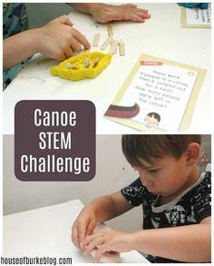 House of Burke: Canoe STEM Challenge Steam Activities, Summer Activities, Stem Steam, Stem Challenges, Science Classroom, Activity Ideas, Canoe, Frugal, Cool Kids