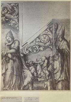Munster, Basel rechter orgelluik, ets Hans Holbein d.J., Aschmoleian