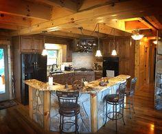 Canyon Falls Rustic Cabin Kitchen
