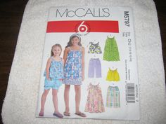 McCalls M5797 Childrens Girls Dress Sewing by stephaniesyarn, $6.00