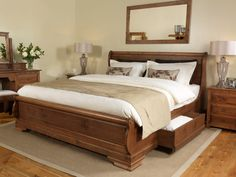Parisienne French Sleigh Bed From Revival Beds http://www.periodideas.com/parisienne-french-sleigh-bed-from-revival-beds