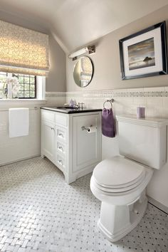 lowes ceramic tile Bathroom Contemporary with basketweave tile chair rail marble tile roman