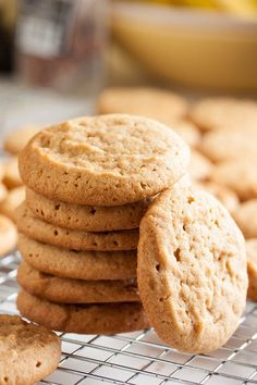 Soft Peanut Butter Cookies, with perfect peanut flavour and perfect soft chewy texture. A sure favourite!