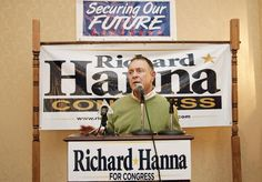 Republican Rep. Richard Hanna, who represents a swath of upstate New York around Utica, co-sponsored a bill introduced by Israel that would ban former members of Congress who earn more than $1 million a year as lobbyists from collecting their pensions.