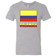 """Cheerful design shows the Colombian Flag with the word or name """"COLOMBIA"""" below, in the colors or colours of the flag. Shows here with a black border for lighter products.<br /><br /> Some products may make great teaching tools or aids for creative teachers.<br /><br /> Wonderful for honoring and sharing your love and pride in your Colombian ethnic heritage, ancestry and culture, too. Also, fun for travelers as a bon voyage gift or remembrance of a holiday, trip or vacation. Great gift for…"""