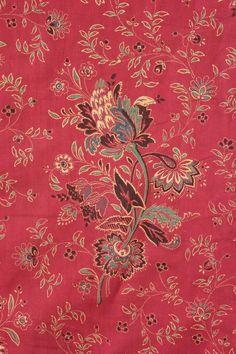 French Turkey Red c1850- detail