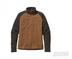 Patagonia Mens Better Sweater™ 1/4 Zip Fleece Bear Brown