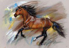Cheval ... Artiste Zorina Baldescu.