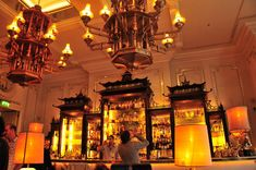 The Artesian Bar at The Langham Hotel in London by David Collins.
