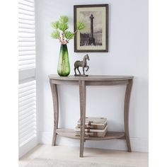 Furniture of America Renesme Half-moon Sofa Table - Overstock Shopping - Great Deals on Furniture of America Coffee, Sofa & End Tables