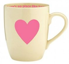heart mug - There's no place like home