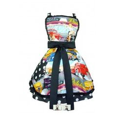 -I seriously freakin' love this Retro Hot Rods and Waitresses 50s Diner Apron