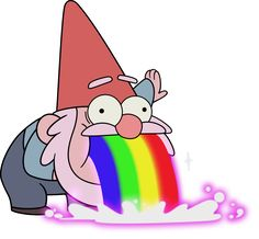 'Vomiting Gnome- Gravity Falls' Sticker by sarrrrah – Graffiti World Meme Stickers, Tumblr Stickers, Cool Stickers, Printable Stickers, Laptop Stickers, Kawaii Stickers, Gravity Falls Gnome, Desenhos Gravity Falls, Aesthetic Stickers