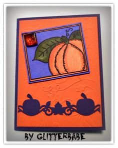 """image """"pumpkin-in-a-frame"""" by ME; emboss is pumpkin patch; border punch is by eksuccess - which i got for a steal (3.99) at marshall's!"""