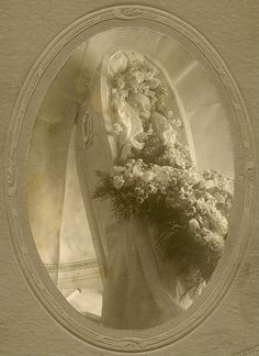 """The only post mortem picture in my family. All I have is what Grandma wrote on the back, """"Our sister Marie (Repitski) was born & died in Canada, about a year later, she was born after me, Pauline."""" This would be between 1902 & 1904."""