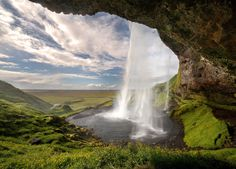 the other side: behind seljalandsfoss waterfall (Iceland)