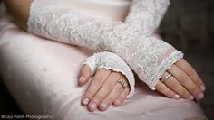 Vintage style lace gloves are classy and traditional, for something old