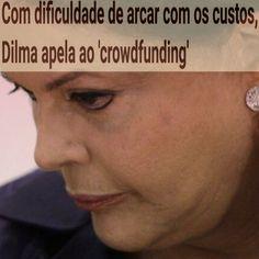 Com dificuldade de arcar com os custos, Dilma apela ao 'crowdfunding' ➤ https://www.noticiasaominuto.com.br/brasil/241541/com-dificuldade-de-arcar-com-os-custos-dilma-apela-ao-crowdfunding ②⓪①⑥ ⓪⑥ ②① #Impeachment