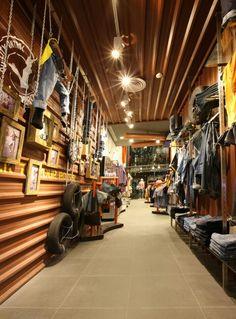 Denim display , visual merchandising