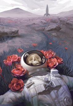 "Ƥicsy on Twitter: ""… "" Astronauts, Landscape Wallpaper, Artistic Wallpaper, Wallpaper Art, Land Art, Art Et Design, Arte Legal, Dark Art Paintings, Watercolor Paintings"