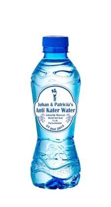 Anti Kater Water gepersonaliseerd met voornamen en trouwdatum