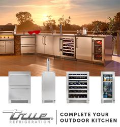 No outdoor kitchen is complete with cold storage right next to the grill. Pair the True products you need and complete your outdoor kitchen. Outdoor Rooms, Outdoor Living, Kitchen Refrigerator, Kitchen Appliances, Kitchens, Fireplace Facing, Basic Kitchen, Kitchen Ideas, Outdoor Kitchen Design