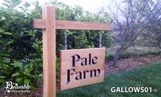 Gallows Bracket and Large Double Sided Sign from Bramble Signs Driveway Sign, Gallows, Bramble, Home Signs, Sign Design, Ladder Decor, Exterior, Landscape, Outdoor Decor