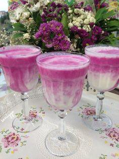 Pembeyaz Ayran Tarifi #food #drink #yum #yummy #pink #yogurt