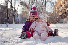 Zimowa sesja plenerowa z Basią i Justynką