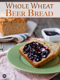 Whole Wheat Beer Bread: A quick toss-together bread loaf measured out ...