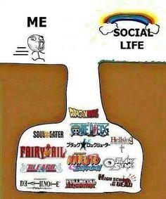 Emm yo soy otaku y tengo mi vida social,no se porke dicen esta chorrada, las dos cosas se pueden