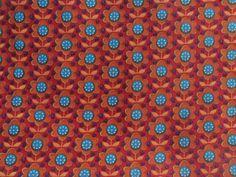 Super schöner Stoff inRot/Blau von Stoffe, Wolle und mehr ... auf DaWanda.com