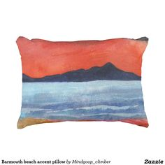 Barmouth beach accent pillow