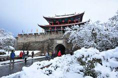 Beautiful snow scenery in Dali, SW China
