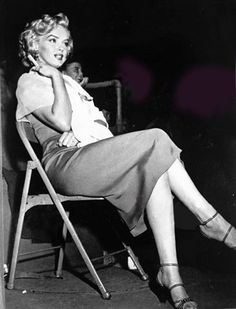Marilyn Monroe at a charity baseball game at Gilmore Field Stadium, LA, in Marilyn Monroe Life, Marilyn Monroe Photos, Hollywood Stars, Old Hollywood, Gentlemen Prefer Blondes, Norma Jeane, Photograph Album, Hollywood Actresses, All Star