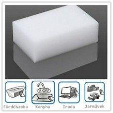 Koszradír - mágikus szivacs: fürdőszoba, konyha, iroda, koszos felületek tisztítása érdekében. Hasznos ajándék!