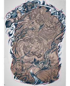 C Tattoo, Lion Tattoo, Asian Tattoos, Japan Tattoo, Japanese Tattoo Designs, Irezumi, Big Project, Samurai, Lion Sculpture