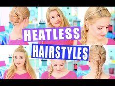 Easy Heatless Hairstyles! Tumblr Inspired - YouTube Ella Elbells