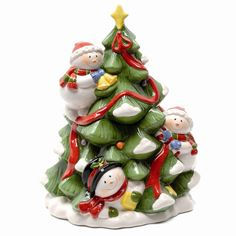Christmas cookie jar, by Festive Cute Christmas Cookies, Christmas Jars, Cute Cookies, Yummy Cookies, Rustic Christmas, Christmas Snowman, Vintage Christmas, Ceramic Cookie Jar, Christmas Time Is Here