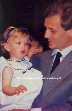 Charlotte casiraghi and her father.