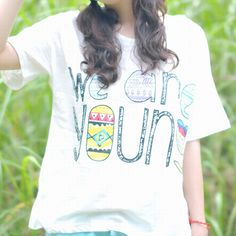 We Are Young Print T-shirt