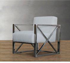 Кресло из металла в стиле лофт с мягким сиденьем и интересной формой подлокотников купить в интернет-магазине https://lafred.ru/catalog/catalog/detail/42612062850/